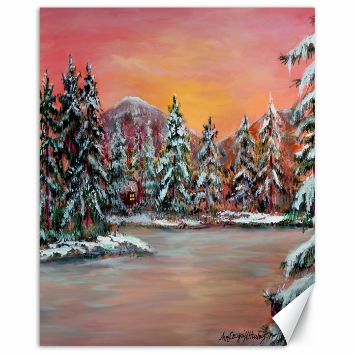 Jane s Winter Sunset   by Ave Hurley of ArtRevu ~ Canvas 11  x 14