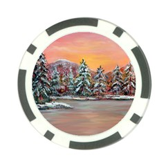 jane s Winter Sunset   By Ave Hurley Of Artrevu   Poker Chip Card Guard by ArtRave2