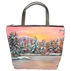 jane s Winter Sunset   By Ave Hurley Of Artrevu   Bucket Bag by ArtRave2
