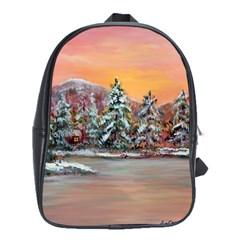 jane s Winter Sunset   By Ave Hurley Of Artrevu   School Bag (large) by ArtRave2