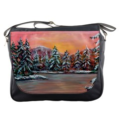 jane s Winter Sunset   By Ave Hurley Of Artrevu   Messenger Bag by ArtRave2