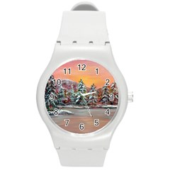 jane s Winter Sunset   By Ave Hurley Of Artrevu   Round Plastic Sport Watch (m) by ArtRave2