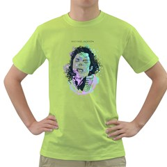 King Of Pop Mens  T Shirt (green) by Contest1810159