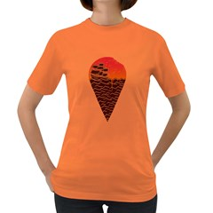 Sunset Ice Cream Womens' T Shirt (colored)