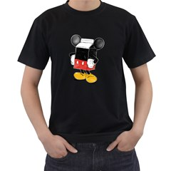Milky Mouse Mens' Two Sided T Shirt (black) by Contest1753604