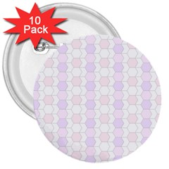 Allover Graphic Soft Pink 3  Button (10 Pack) by ImpressiveMoments