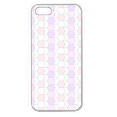 Allover Graphic Soft Pink Apple Seamless Iphone 5 Case (clear) by ImpressiveMoments