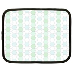 Allover Graphic Soft Aqua Netbook Sleeve (large) by ImpressiveMoments