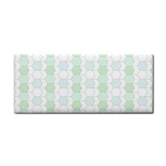 Allover Graphic Soft Aqua Hand Towel
