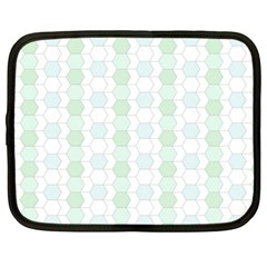 Allover Graphic Soft Aqua Netbook Sleeve (xl) by ImpressiveMoments