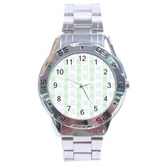 Allover Graphic Soft Aqua Stainless Steel Watch by ImpressiveMoments