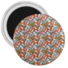Allover Graphic Brown 3  Button Magnet