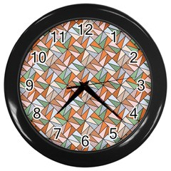 Allover Graphic Brown Wall Clock (black) by ImpressiveMoments