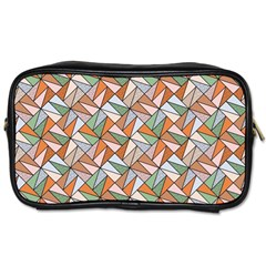 Allover Graphic Brown Travel Toiletry Bag (one Side)