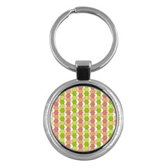 Allover Graphic Red Green Key Chain (round)