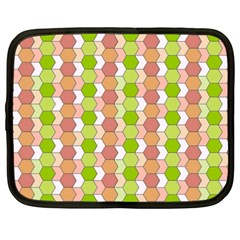 Allover Graphic Red Green Netbook Sleeve (xxl) by ImpressiveMoments
