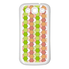 Allover Graphic Red Green Samsung Galaxy S3 Back Case (white) by ImpressiveMoments