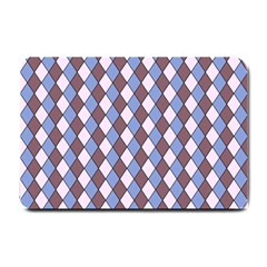 Allover Graphic Blue Brown Small Door Mat