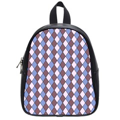 Allover Graphic Blue Brown School Bag (small)