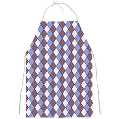 Allover Graphic Blue Brown Apron by ImpressiveMoments