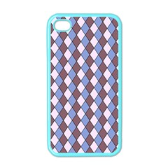 Allover Graphic Blue Brown Apple Iphone 4 Case (color) by ImpressiveMoments