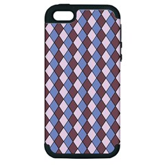 Allover Graphic Blue Brown Apple Iphone 5 Hardshell Case (pc+silicone) by ImpressiveMoments