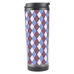 Allover Graphic Blue Brown Travel Tumbler