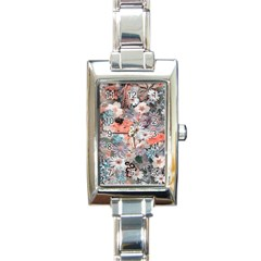 Spring Flowers Rectangular Italian Charm Watch by ImpressiveMoments