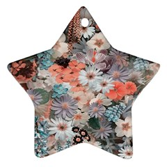 Spring Flowers Star Ornament by ImpressiveMoments