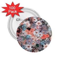 Spring Flowers 2 25  Button (100 Pack) by ImpressiveMoments
