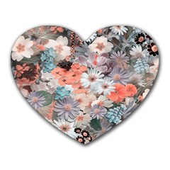 Spring Flowers Mouse Pad (heart) by ImpressiveMoments
