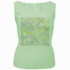 Spring Flowers Soft Womens  Tank Top (green) by ImpressiveMoments