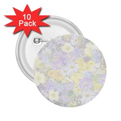 Spring Flowers Soft 2 25  Button (10 Pack) by ImpressiveMoments