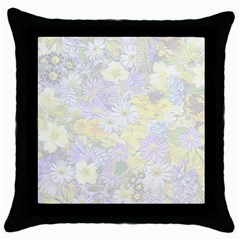 Spring Flowers Soft Black Throw Pillow Case by ImpressiveMoments