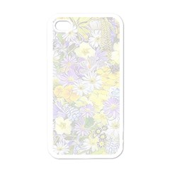 Spring Flowers Soft Apple Iphone 4 Case (white) by ImpressiveMoments