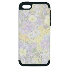 Spring Flowers Soft Apple Iphone 5 Hardshell Case (pc+silicone) by ImpressiveMoments