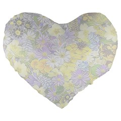Spring Flowers Soft 19  Premium Heart Shape Cushion