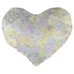 Spring Flowers Soft 19  Premium Heart Shape Cushion Back