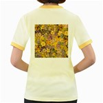 Spring Flowers Effect Womens  Ringer T-shirt (Colored) Back