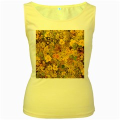 Spring Flowers Effect Womens  Tank Top (yellow) by ImpressiveMoments