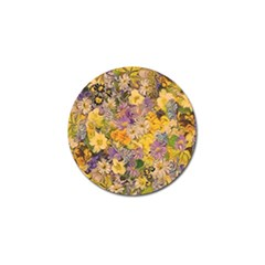 Spring Flowers Effect Golf Ball Marker