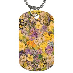 Spring Flowers Effect Dog Tag (two Sided)  by ImpressiveMoments