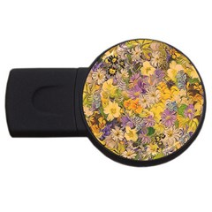 Spring Flowers Effect 2gb Usb Flash Drive (round) by ImpressiveMoments