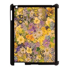 Spring Flowers Effect Apple Ipad 3/4 Case (black) by ImpressiveMoments