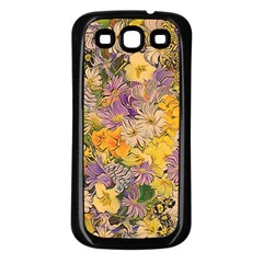 Spring Flowers Effect Samsung Galaxy S3 Back Case (black)
