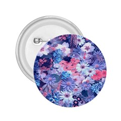 Spring Flowers Blue 2 25  Button by ImpressiveMoments