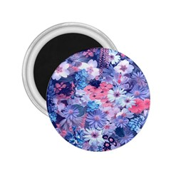 Spring Flowers Blue 2 25  Button Magnet by ImpressiveMoments