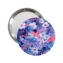 Spring Flowers Blue Handbag Mirror (2 25 )