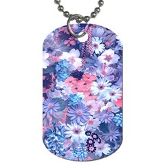 Spring Flowers Blue Dog Tag (one Sided) by ImpressiveMoments