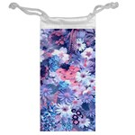 Spring Flowers Blue Jewelry Bag Back